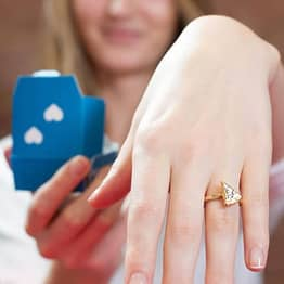 Domino's Made A Pizza-Shaped Diamond Engagement Ring For Valentine's Day