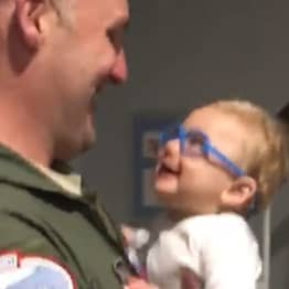 Incredible Moment Baby Boy Sees His Father For The First Time With New Glasses