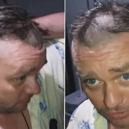 Drunk Guy Cuts Own Hair, Has To Ask Neighbour For Help To Sort It Out