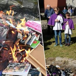 Polish Priests Burn Harry Potter Books For Being Sacrilegious