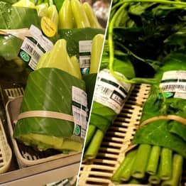 Supermarkets In Asia Are Using Banana Leaves As A Plastic Substitute