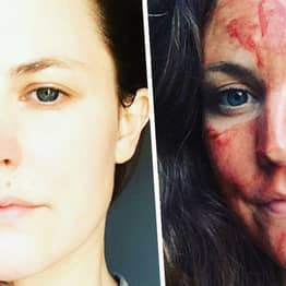 Woman Wipes Period Blood On Her Forehead For Spiritual Healing