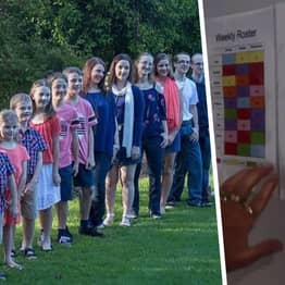 Mum-Of-16 Uses Rota To Make Sure All Kids Do Housework From Age 8