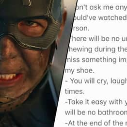 Girl Writes Brutal Rules For Watching Avengers: Endgame With Her