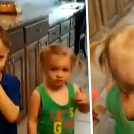 Little Boy Shaves His And Sister's Head After Finding Electric Razor