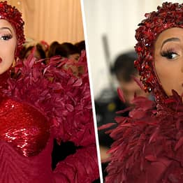 People Think Cardi B's Met Gala Gown Looks Like A Period
