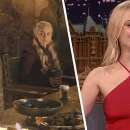 Sophie Turner Disproves Fan Evidence Blaming Her For Coffee Cup In Game Of Thrones