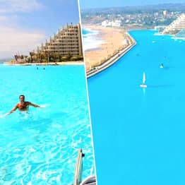 One Of World's Largest Pools Is So Big You Can Sail A Boat On It