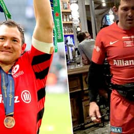 Rugby Player Won European Cup On Saturday, Still On The P*ss In Full Kit Day After