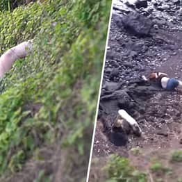 YouTuber Slammed For Sharing Video Of His Wife Falling Off 'Cliff'
