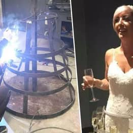 Prosecco Obsessed Bride Creates Wedding Dress Which Holds 50 Glasses