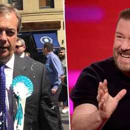Ricky Gervais Says Milkshaking Politicians 'Deserves A Smack In The Mouth'