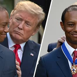 Tiger Woods Cries As Donald Trump Awards Him Presidential Medal Of Freedom