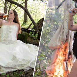 Woman's Burn The Dress Ceremony Goes Viral After Divorcing Husband Of 8 Years