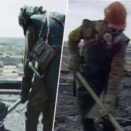 Side-By-Side Chernobyl Show And Real Documentary Footage Almost Identical
