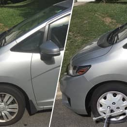 Man Photoshops Flat Tyre Onto His Car To Get Out Of Work