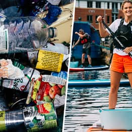 Paddle Boarder Launches Innovative App After Photographing Huge Amount Of Discarded Plastic In British Waters