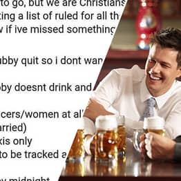Woman Gives Husband List Of Strict Rules For Friend's Stag Do