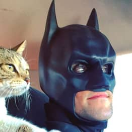 Real-Life Batman Saves Shelter Animals And Helps Find Their Forever Homes