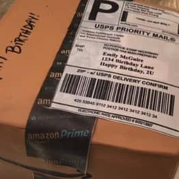 Guy Gives Wife Cake In Shape Of Amazon Delivery Box