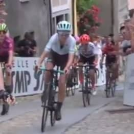 Cyclist Celebrates Race Too Early, Gets Immediately Overtaken