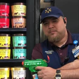 'Armed' Walmart Employee Guards Blue Bell Ice Cream After Viral Licking Video