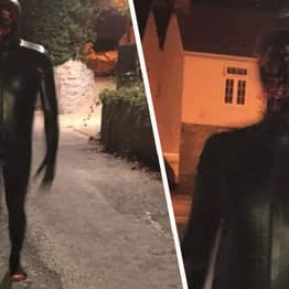 Man In Gimp Suit Walking Around Village 'Grunting And Touching His Genitals'