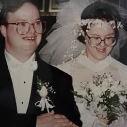 Widow With Down's Syndrome Pays Tribute To Husband Of 25 Years As She Scatters His Ashes