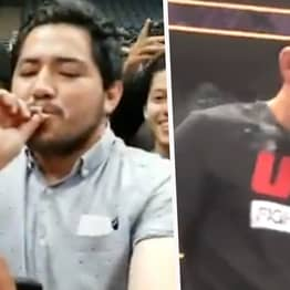 Nate Diaz Lit A Joint At His Open Workout And Passed It To Fans