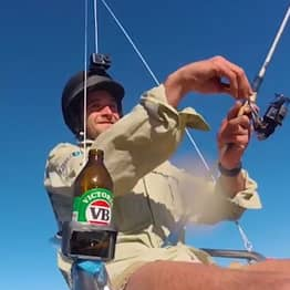 Footage Of Guy Fishing From Drone Being Investigated By Authorities
