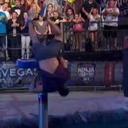 Olympic Gymnast Makes Greatest Save In Ninja Warrior History After Slip On First Obstacle