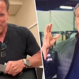 Schwarzenegger Trolls Stallone About 'The Size Of His Knife'