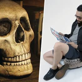 Giant Skull Chair With Movable Jaw Is Must-Have For Halloween