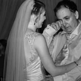 Beautiful Photograph Shows Autistic Father Crying For Joy At His Daughter's Wedding