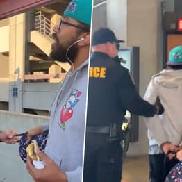 Police Officers Handcuff Man For 'Illegally Eating' Sandwich