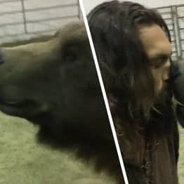 Jason Momoa Accused Of Animal Cruelty For Video With 900-Pound Grizzly Bear