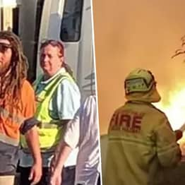 Guy Donates Crate Of Beer To Exhausted Firefighters Battling Raging Bushfire