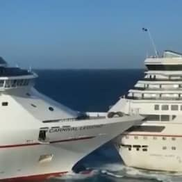 Two Cruise Ships Filmed Crashing Into Each Other