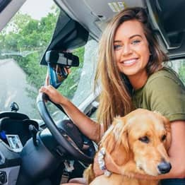 Woman Dumped Boyfriend And Quit Job To Travel Across US In Van With Her Dog