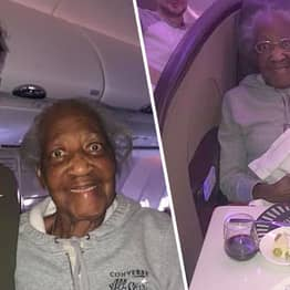 Passenger Gives First Class Seat To 88-Year-Old Woman He Befriended In Airport