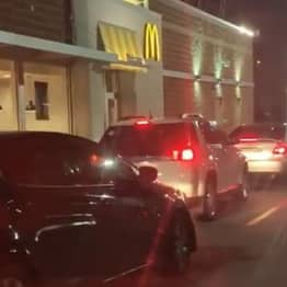 Drivers Queue For McDonald's Drive-Thru On Christmas Day Not Realising It's Shut