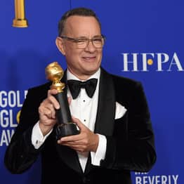 Tom Hanks Cried At Golden Globes During Heartwarming Tribute To Family