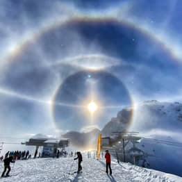 Photographer Captures Stunning Ice Halo Formed Over The Swiss Alps