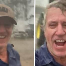 Aussie Farmer Celebrates As Torrential Rain Falls On His Land After Months Of Drought