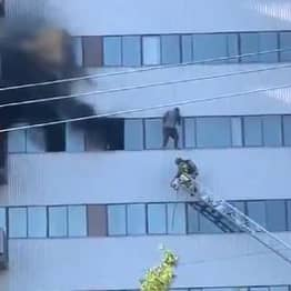 Residents Forced To Leap From Sixth Floor As Fire Rips Through LA Skyscraper
