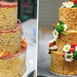 People Are Ordering Instant Noodle Cakes For Their Birthdays And Weddings