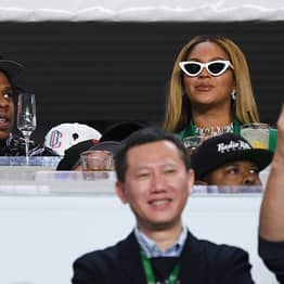 Beyoncé And Jay-Z Sat Down For The National Anthem At Super Bowl