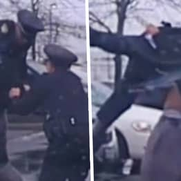 Shocking Footage Shows Moment College Football Player Bodyslams Ohio Cop To Ground