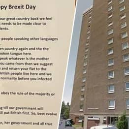 'Happy Brexit Day' Note Tells Foreign Residents To 'Only Speak English'