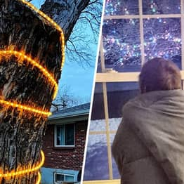 People In Self-Isolation Have Started Putting Up Christmas Decorations To Spread Cheer